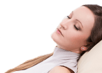 Relaxed woman with eyes closed